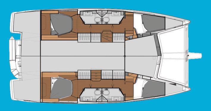 catamarano lucia 40 layout